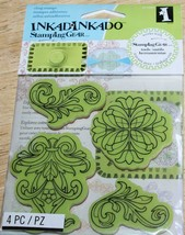 Inkadinkado    CLASSIC ORNAMENTS   Stamping Gear ~ Cling Stamps  SEALED ... - $4.74