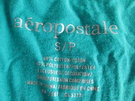 Ladies teal cap sleeve pocket Tee Size Small By Aeropostale  MKARL329 - $6.62