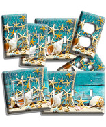 RUSTIC SEA SHELLS STAR FISH NET LIGHT SWITCH WA... - $8.99 - $18.89