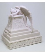 Moaning Angel Guardian Urn Surrounding with Cross. Holy Christianity Cre... - $128.69
