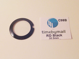 For RADO COUPOLE Black watch replacement part Round Glass Crystal 32.5mm... - $25.24