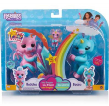 Fingerlings Bubbles Dragon & Becca Unicorn Set w/Bonus Mini Bianca Unico... - $22.75