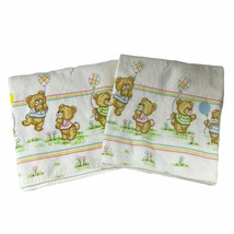 Toddletime 2 Baby Receiving Blankets Vintage 1970s Teddy Bears Balloons ... - $29.69