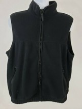 Eddie Bauer Fleece Full Zip Black Vest Men's Size M - $29.69