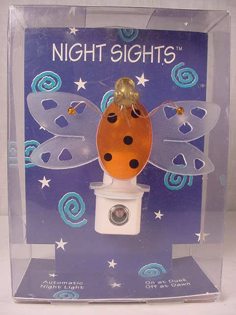 Primary image for Night Sights Lady Bug Automatic On/Off Night Light  New in the Box