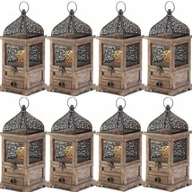Lot 15 Large Lantern Wood Candle Holder Wedding Centerpieces with Drawer - $272.25