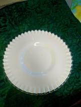 """Vintage Fenton Silvercrest White Milk Glass 12 1/4"""" Serving Plate Platter  - $19.99"""