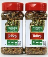 2 Count Tone's 4.5 Oz Pickling Spice Seasoning Blend For Veggies Fish Beef - £13.72 GBP