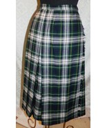 Lands End Donna Vintage Avvolgente Plaid Lana Gonna 10 Dritto - $25.92