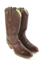 FRYE Women's Brown Cowboy Cowgirl Western Boots Leather Size 8 B - $76.46