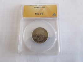 1980-P , Washington Quarter , ANACS , MS 66 - $35.00