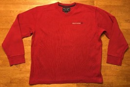 Abercrombie Boy's Red Long Sleeve V-Neck Thermal Shirt - Size: Large - $11.87