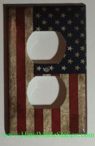 US USA United State Flag Light Switch Power Outlet Wall Cover Plate Home decor image 2