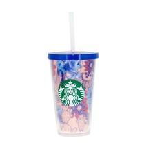 Starbucks Blue Red Cactus Flower Desert Acrylic Cup Tumbler 16 oz Grande Arizona - $48.50