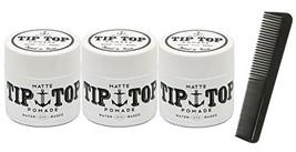 Tip Top Matte Water Based Medium Hold Pomade 4.25oz Pack of 3 - $55.76