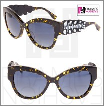 FENDI CROCO TAIL FF0139S Crystal Brown Havana Blue Rubber Sunglasses 0139 - $266.41