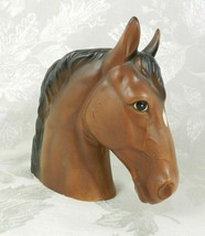 """Vintage Lefton Horse Head Planter Vase Brown Ceramic 6.5"""" H H1953 Japan - $21.77"""