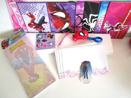 SPIDERMAN LOT notepad, cards, lollipop case, grow in water man, stickers... - $6.99