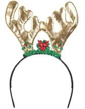Deluxe New Golden Christmas Costume Reindeer Antlers - $6.81