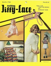 Vintage Knit/Crochet Booklet-Exciting Jiffy Lace- - $6.76