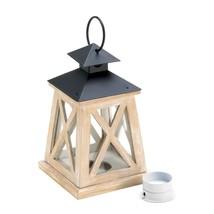 Wooden Lantern Candle Warmer, Pine Wood Patio Candle Lanterns For Weddings - $20.74