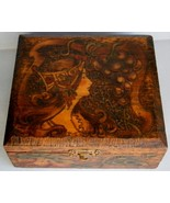 Flemish Art Jewelery Box with Art Nouveau Design from the early 1900's - $33.25