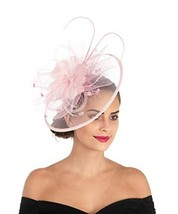 Lucky Leaf Women Girl Fascinators Hair Clip Hairpin Hat Feather Cocktail Wedding