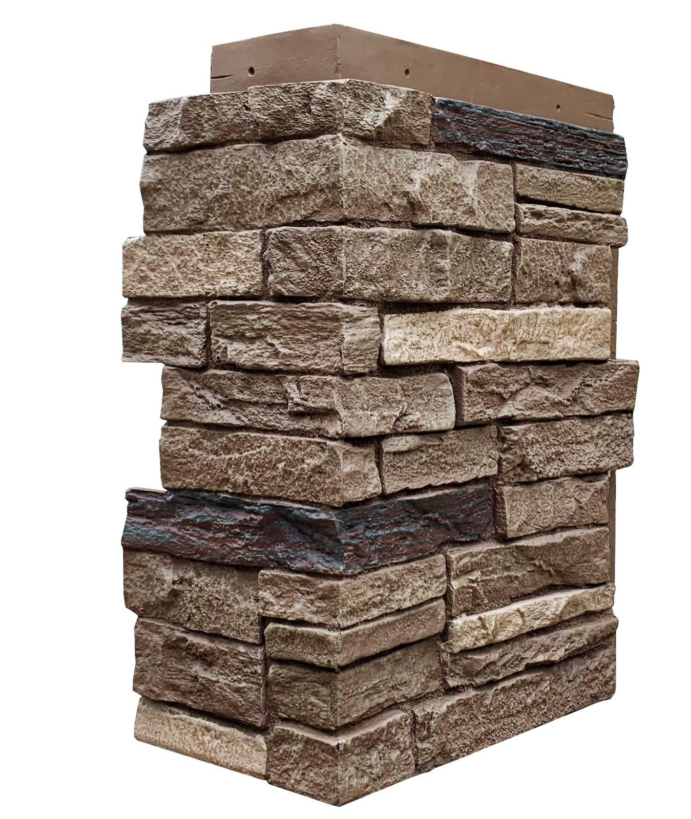 NextStone Sandstone Ledger Outside Corner Graphite