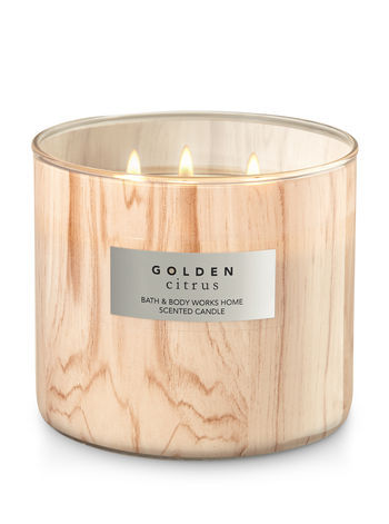 Bath & Body Works GOLDEN CITRUS 3-Wick Candle