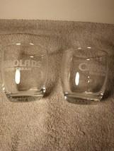(2)  CAROLANS IRISH CREAM GLASSES--TASTER / COCKTAIL / TUMBLER----FREE S... - $19.98