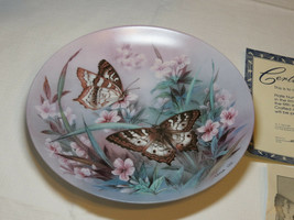 On Gossamer Wings White Peacocks Lena Liu collector plate 5th 1989 #% - $26.72