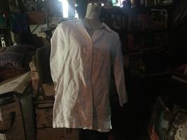 MAGASCHONI Crisp Snow White Linen Blouse Size S - $21.78
