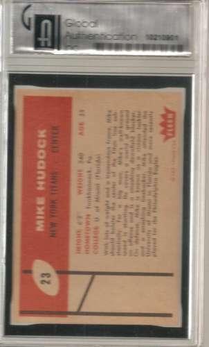 1960 Fleer #23 Mike Hudock GAI 7.5 image 2