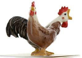 Hagen Renaker Miniature Chicken Leghorn Black Rooster & Red Hen Set image 8