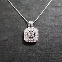 New 14k White Gold On 925 Anniversary Pendant Charm - $35.49