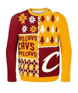 NBA Klew Cleveland Cavaliers Busy Block Ugly Sweater - $29.95
