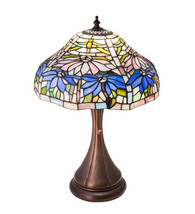 "18"" High Poinsettia Fluted Accent Lamp - $744.00"