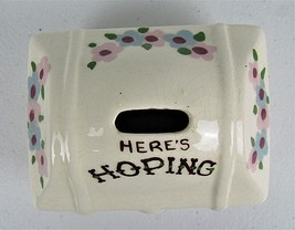 California Cleminsons Art Pottery Vintage Hope Chest Hand Painted Flower... - $18.76
