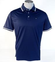 Tommy Hilfiger Golf Navy Blue Short Sleeve Polo Shirt Mens NWT - $74.99