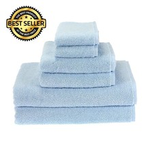 6Pcs Cotton Bath Towel Sets Hand Washcloths Towels Bathroom Soft Absorbe... - $29.05