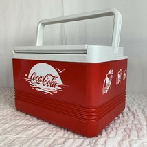Coca-Cola Classic Igloo Legend 12 Cooler Red And White Beach W Handle US... - $43.55