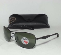 Ray-Ban RB3519 Men Polarized Sunglasses Black Metal Green Classic G-15 L... - $77.55