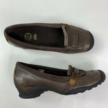 MERRELL Eden Moc womens size 9.5  Ortholite Brown Slip On Loafers leather Shoes  - $41.57