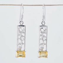 exporter 925 Sterling Silver ideal Natural Yellow Earring gift UK - $18.75