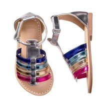 NWT Gymboree Spring Vacation Girls Rainbow Metallic Sandals Shoes 5 6 9 - $12.99
