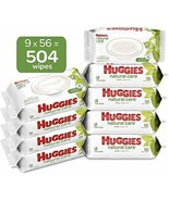 HUGGIES Natural Care Unscented Baby Wipes, Sensitive, (56 Count (Pack of... - $21.28