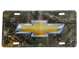 """Chevy Chevrolet Camo Camouflage Realtree 6""""x12"""" Aluminum License Plate Tag - £5.81 GBP"""
