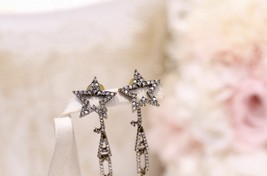 Authentic Christian Dior Star Crystal J'ADIOR Dangle Drop EARRINGS  image 5