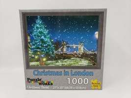 Puzzle Works Christmas Series 1000 Pc Puzzle - Christmas in London - New - $16.99