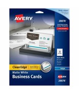 Avery Printable Business Cards Inkjet Printers 90 Cards 2 x 3.5 Clean Ed... - $10.86